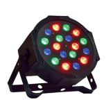 Canhão de LED Mini Par 18W  RGB