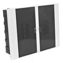 Quadro de Distribuição 12/16 Disjuntores Embutir  - TAF Branco C/ Fume