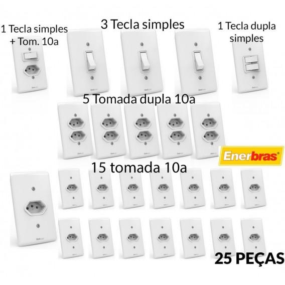 Kit Interruptores e Tomadas  ( 25 Pçs ) Linha Artis