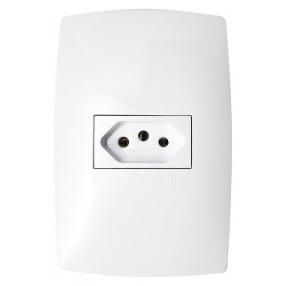 Kit 20 Peças - 10 Tomadas 10a + 10 Interruptor Simples - (HOME BRANCA)