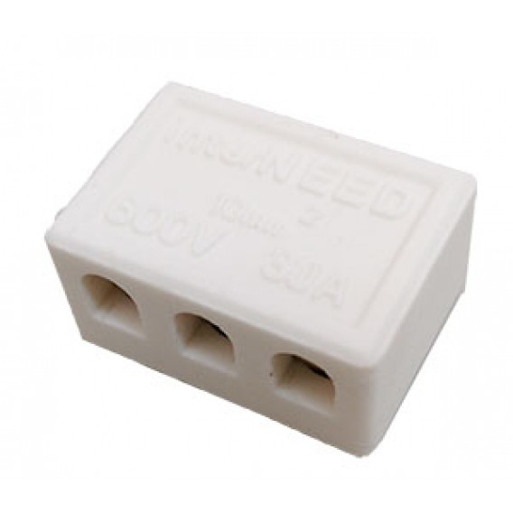 Conector Porcelana Médio - 10mm² - 3 Pólos - INTERNEED