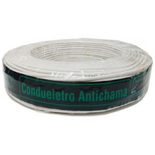 Cabo Eletrico Flexivel 4,0 mm 100mts Branco - CONDUELETRO