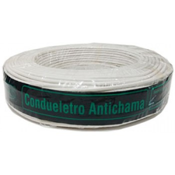 Cabo Eletrico Flexivel 2,5mm 100mts Branco - CONDUELETRO
