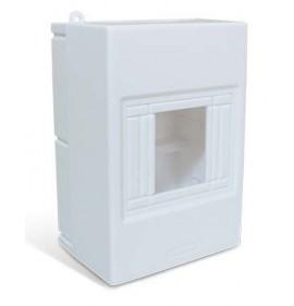 Quadros de Sobrepor Combi Box para 4 disjuntores  DIN