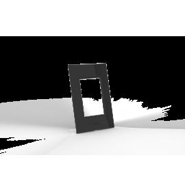 Conjunto Placa para 3 Módulos Com Suporte - Beleze Preto