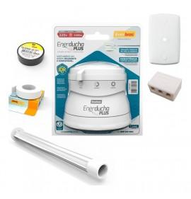 Kit Chuveiro Eneducha Completo Branco 110v/5400w - Enerbras
