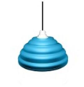 Pendente Moderno Luminária Chapel Azul Claro Ciano