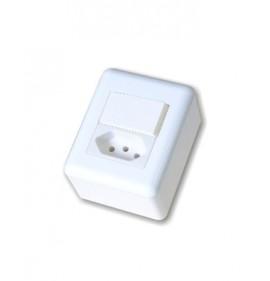 Conjunto Sobrepor Interruptor Paralela + Tomada 20a - OVERLAP BLUX