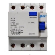 Interruptor Diferencial Residual Tetrapolar de 80A - JNG