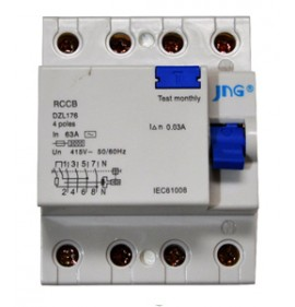 Interruptor Diferencial Residual Tetrapolar de 25A - JNG