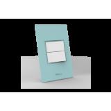 Conjunto Interruptor Duplo Simples - Beleze Verde Pastel