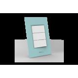 Conjunto Interruptor Triplo Simples - Beleze Verde Pastel