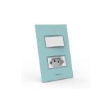 Conjunto 1 Interruptor Simples + Tomada 20A - Beleze Verde Pastel