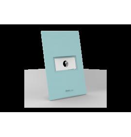 Conjunto Placa com Furo - Beleze Verde Pastel