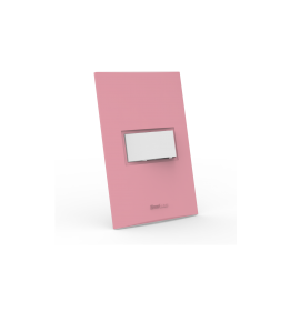Conjunto Interruptor Simples - Beleze Rosa Pastel