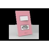 Conjunto 1 Interruptor Simples + Tomada 20A - Beleze Rosa Pastel