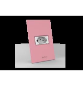 Conjunto Tomada 10A - Beleze Rosa Pastel