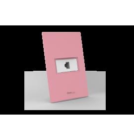 Conjunto RJ11 Telefone - Beleze Rosa Pastel