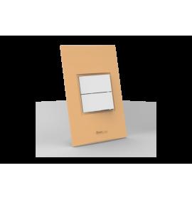 Conjunto Interruptor Duplo Simples - Beleze Laranja Pastel
