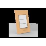 Conjunto Interruptor Triplo Simples - Beleze Laranja Pastel