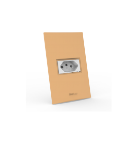 Conjunto Tomada 10A - Beleze Laranja Pastel