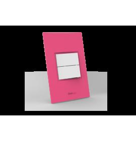 Conjunto Interruptor Duplo Simples - Beleze Rosa