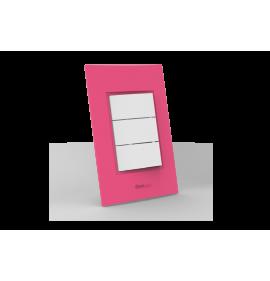 Conjunto Interruptor Triplo Simples - Beleze Rosa
