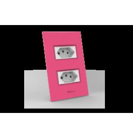 Conjunto Tomada Dupla 10A - Beleze Rosa