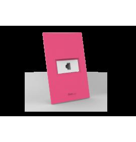 Conjunto RJ11 Telefone - Beleze Rosa