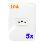 Kit 5 Tomadas 10a - Blux Home