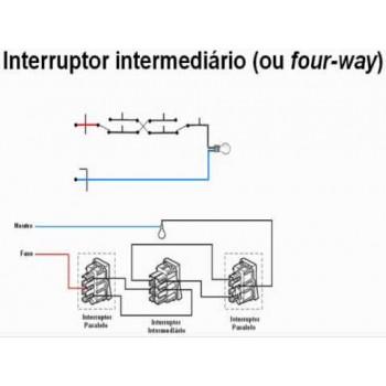 Módulo Interruptor Intermediário  - Novara Cromado
