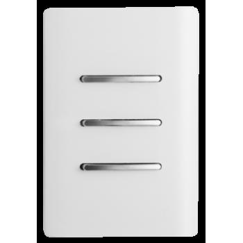 Conjunto Interruptor Triplo  2 Simples + 1 Paralelo 4x2 - Novara White