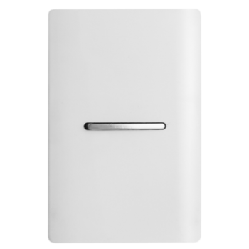 Conjunto Interruptor Simples Horizontal 4x2 - Novara White
