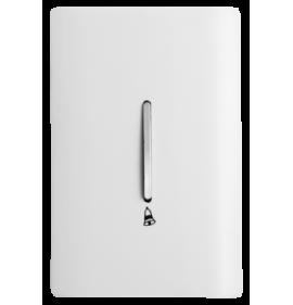 Conjunto Tecla Pulsador Campainha  4x2 - Novara Branco Brilhante Cromado