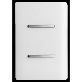 Conjunto Interruptor Duplo Simples 4x2 - Novara White