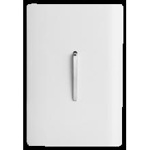 Conjunto Interruptor Paralelo Vertical 4x2 - Novara Branco Brilhante Cromado
