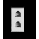 Módulo Telefone Duplo Jack - Novara Branco