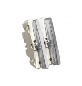 Módulo Duplo Interruptores Simples - Cromado - (USO ESPECIAL)