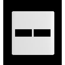 Placa 4x4 para 2 RJs  - Novara White