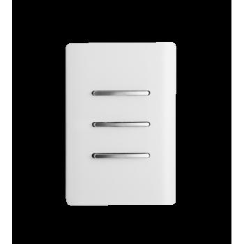 Conjunto Interruptor Triplo Simples 4x2 - Novara White