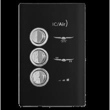 Conjunto Controle Ventilador - Novara Black 127v