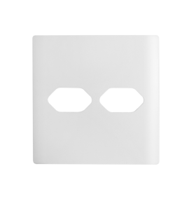 Placa 4x4 2 Tomadas - Novara Branca