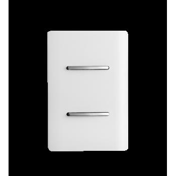 Conjunto Interruptor  Simples + Paralelo 4x2 - Novara White