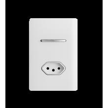 Conjunto Interruptor Intermediário + Tomada 10A - Novara White