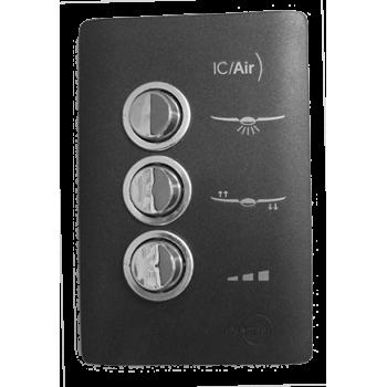 Conjunto Controle Ventilador - Novara Black 200v