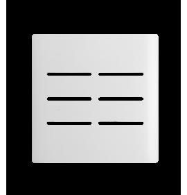 Placa 4x4 6 Interruptores - Novara Branca