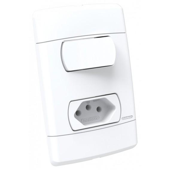 Conjunto Interruptor Paralelo + Tomada 20a - Enerbras Neo Sottile