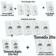 Interruptores e Tomadas 15 Peças Casa Completa - Artis