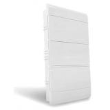 Quadro Ouro Box 36 Módulo DIN Embutir - STECK