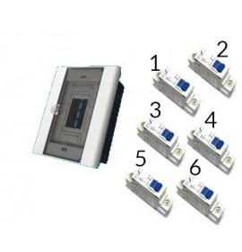Quadro 6/8 Com 6 Disjuntor Mono ( 2 X20a / 2x 32a / 2x40a)